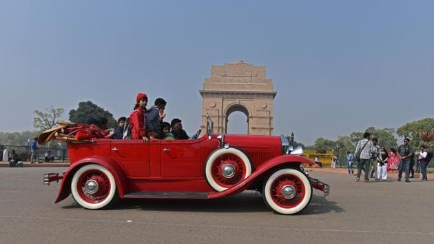 """""""These events add colours to the vibrant tourism sector of the country. The current generation will also get to appreciate the culture of preservation that these car lovers espouse,"""" Union Minister of State for Culture Mahesh Sharma said. (Anushree Fadnavis / HT Photo)"""