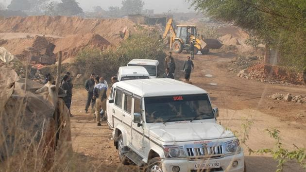 A joint team of officials from the Gautam Budh Nagar district administration, police and Uttar Pradesh pollution control board seized 15 tractors, three earth movers, two grinders, two motorbikes and an SUV, from the accused.