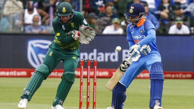 India's Shreyas Iyer failed to make an impact in the ODI series in South Africa.(AP)