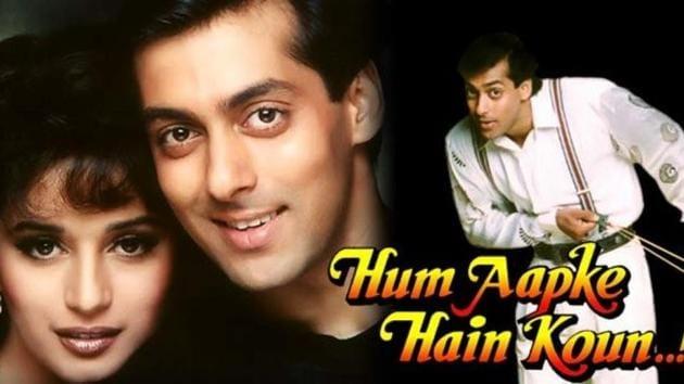 Hum Aapke Hain Koun starred Madhuri Dixit and Salman Khan in the lead.