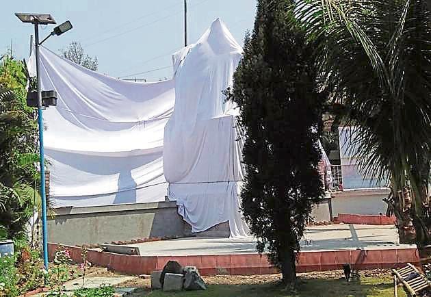 The statue of Chhatrapati Shivaji Maharaj will be unveiled at PCB's Golibar Maidan office soon.(HT PHOTO)
