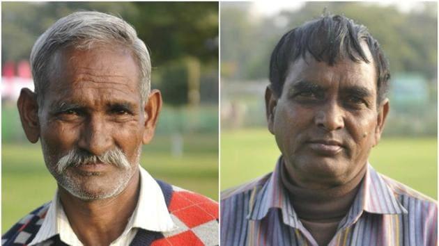 (left) Hira Lal and Barkhu Ram(HT Photo)