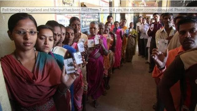 Polling in Meghalaya and Nagaland will be held on February 27.(HT File Photo)