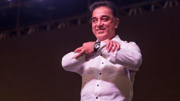 Kamal Haasan launches his party in Madurai.(Picture courtesy: Makkal Needhi Maiam official Twitter account)