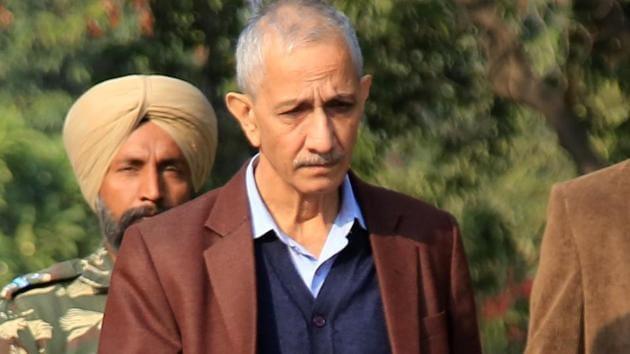 Special representative for Kashmir, Dineshwar Sharma, during a visit to Jammu in November 2017.(HT File Photo)