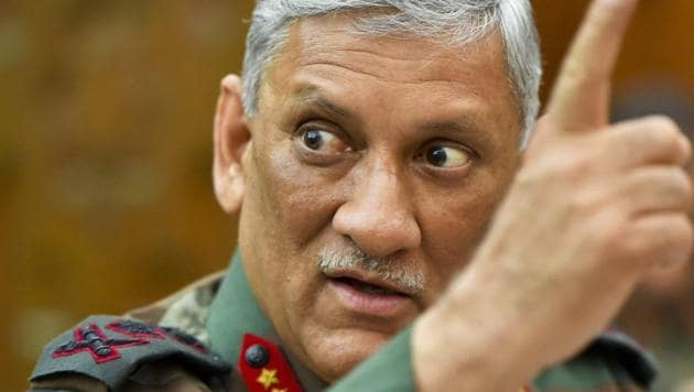 """Army chief Bipin Rawat's remarks about the rise of the AIUDF and changing demography in the northeast drew a sharp backlash from the Assam-based party's chief Badruddin Ajmal, who called the comments """"politically driven and shocking"""".(PTI File Photo)"""