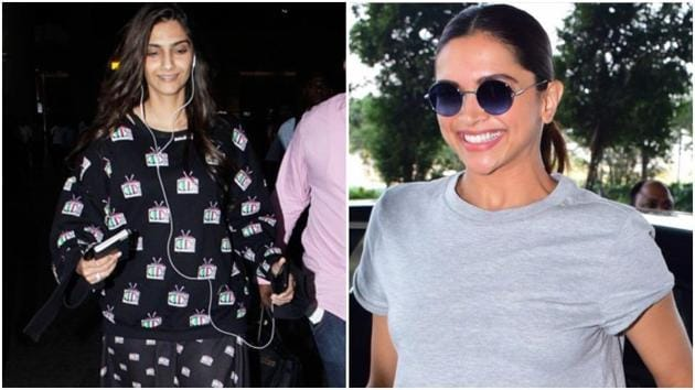 If you want to impress the person picking you up from the airport, actors Deepika Padukone and Sonam Kapoor's latest in-flight looks will get the job done without being impractical for travel. (Instagram)