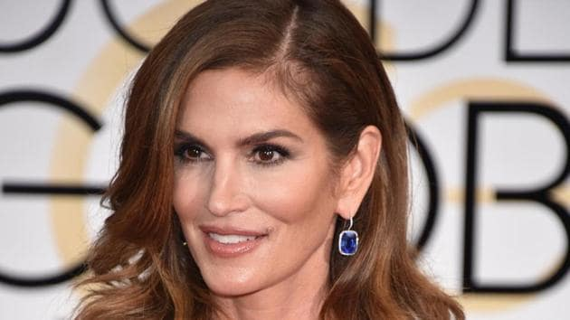 Cindy Crawford at the 72nd annual Golden Globe Awards at the Beverly Hilton Hotel in 2015, in Beverly Hills, California, US.(AP File Photo)