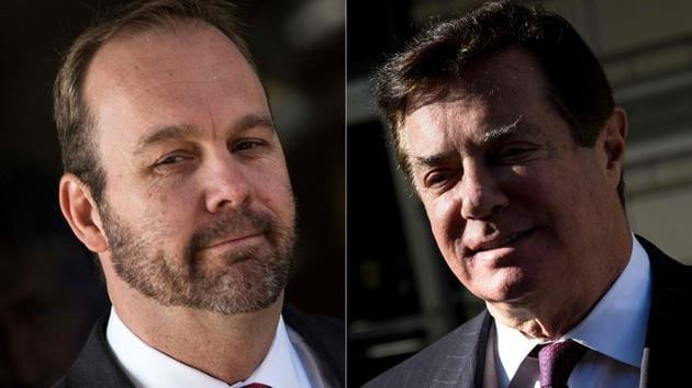 Former Trump campaign official Rick Gates (left) and former Trump campaign chairman Paul Manafort(AFP File)