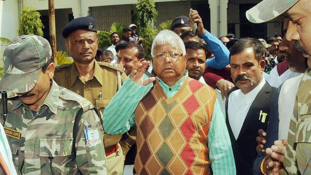 Lalu Prasad has been in the Ranchi Birsa Munda jail since December 23, 2017 since he was convicted in the case.(PTI)