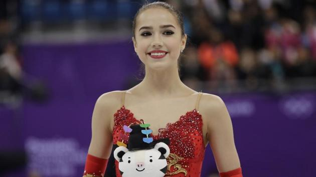 """Alina Zagitova won the women's figure skating gold while competing as a neutral """"Olympic Athlete From Russia"""" on Friday.(AP)"""