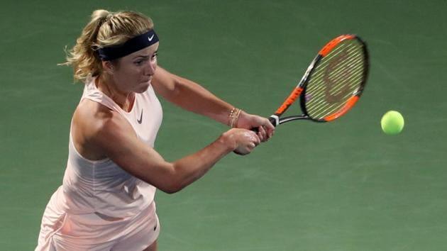 Elina Svitolina will face Angelique Kerber in the semi-finals of the WTA Dubai Duty Free Tennis Championship at the Dubai Tennis Stadium on February 23, 2018.(AFP)