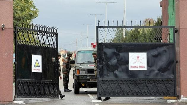 An Indian Army ambulance leaves Sunjuwan camp after suspected militants attacked the base earlier this month, in Jammu.(Reuters File Photo)