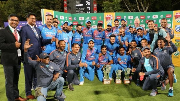 <p>India defeated South Africa by seven runs to win the Twenty20 series 2-1 and end the tour on an ultimate high.</p> (BCCI)