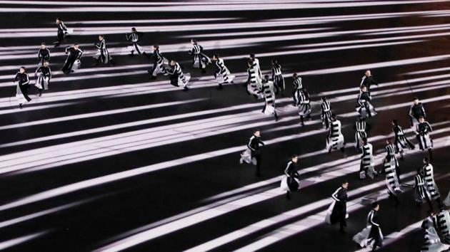 <p>Performers put on a dazzling exhibition during the closing ceremony of the 2018 Winter Olympics in Pyeongchang, South Korea</p> (REUTERS)