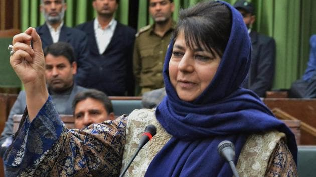 Jammu and Kashmir CM Mehbooba Mufti Sayeed had come under fire after her cousin was selected for the post of executive officer of the state's Khadi and Village Industries Board (KVIB).(PTI)