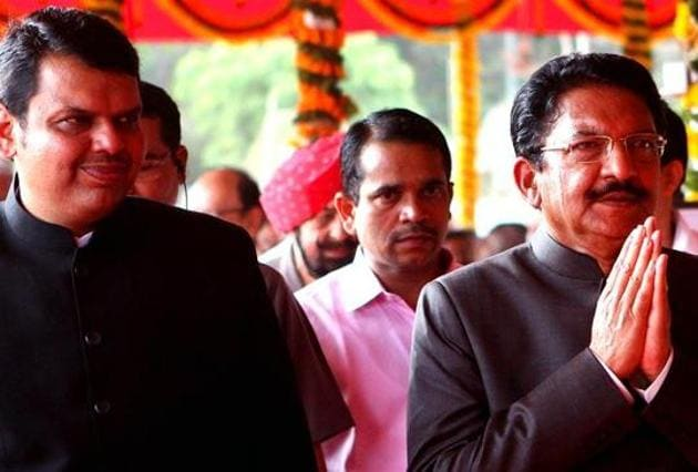 Governor Vidyasagar Rao (right) later wrote a letter to the chairman of the legislative council and speaker of the assembly directing to conduct a probe into the goof-up.(HT PHOTO)
