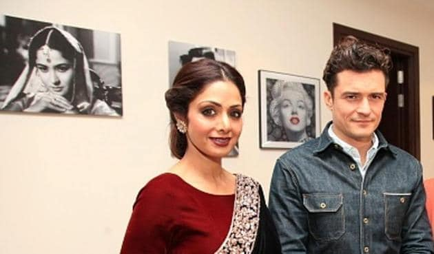 Hollywood actor Orlando Bloom was blown away by Sridevi's stardom, when the two met at a dinner party at politician Amar Singh's residence, in Delhi in December 2015.