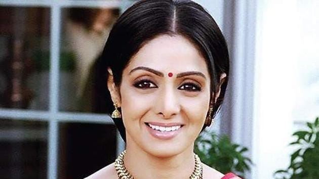 Sridevi in a still from her film, English Vinglish.