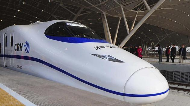 The 508-km bullet train corridor between Mumbai and Ahmedabad will go underground till Thane creek and then be elevated.(FILE)