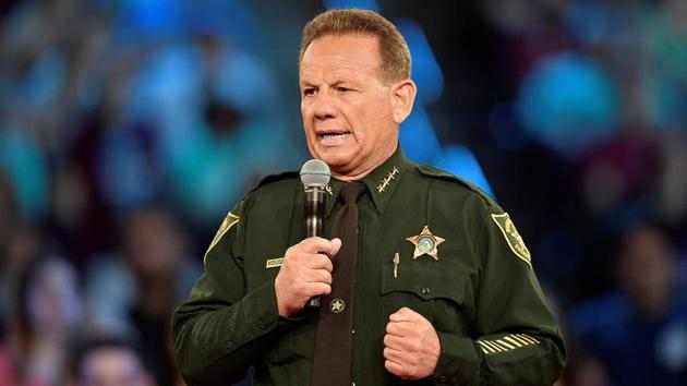 Broward County Sheriff Scott Israel speaks before the start of a CNN town hall meeting at the BB&T Center, in Sunrise, Florida, US February 21, 2018.(Reuters File Photo)