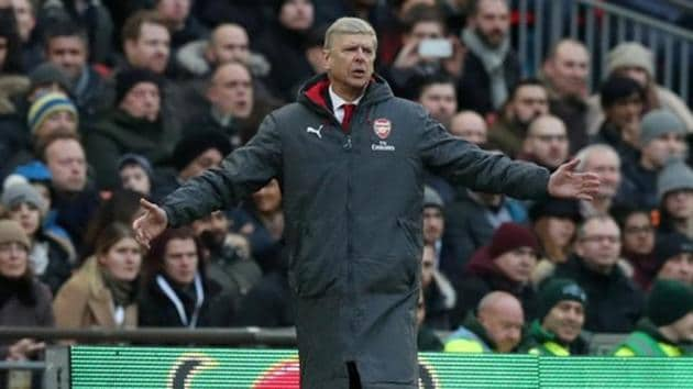 Arsenal FC manager Arsene Wenger said Vincent Kompany's goal in the second half should have been ruled offside by the Video Assistant Referee (VAR).(Action Images via Reuters)