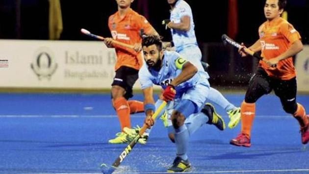 Manpreet Singh, who has led the side in the past, was one of the two players rested for Sultan Azlan Shah tournament.(PTI)