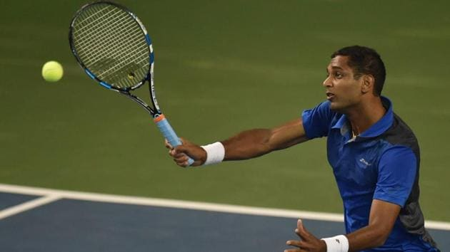 Indian tennis player Ramkumar Ramanathan is ranked 133rd in the world.(PTI)