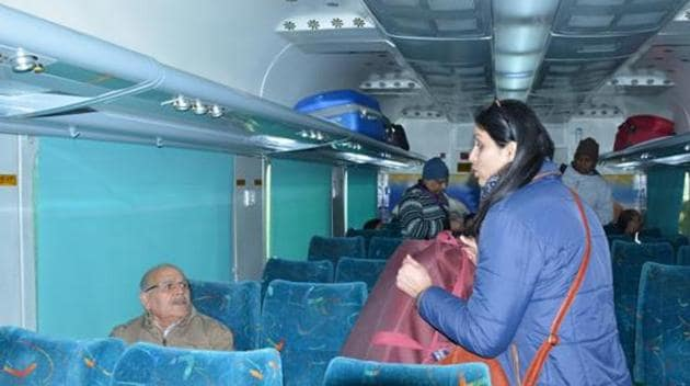 Currently, the quota remains open for booking till the time of preparation of the reservation chart and after that, the unutilised quota is released to the wait-listed passengers, irrespective of their gender.(HT File Photo)
