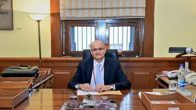 In this file photo, Vijay Keshav Gokhale can be seen in his office as he takes over as the foreign secretary of India, in New Delhi on Monday.(PTI)