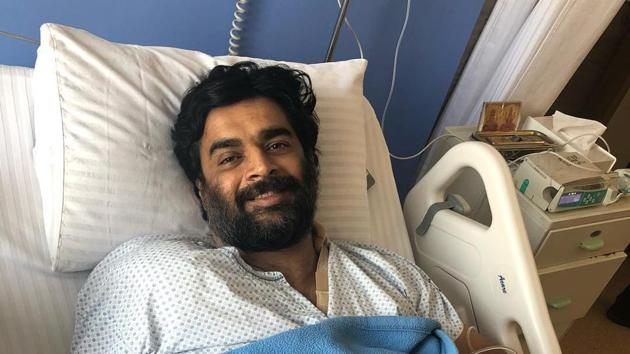 Actor R Madhavan posted this picture, revealing that he underwent shoulder surgery recently.(Photo: Instagram/actormaddy)