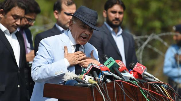 Muhammad Shehbaz Sharif (C), current chief minister of Punjab province and brother of Pakistan's Prime Minister Nawaz Sharif, addresses the media.(AFP File Photo)