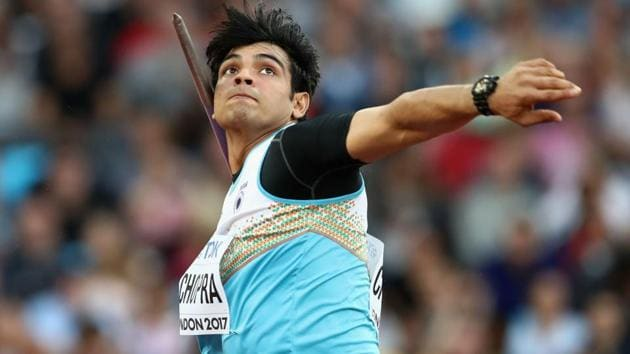 Neeraj Chopra, who won the world junior title in 2016 with an effort of 86.48m, dominated the one-day Indian Grand Prix athletics meet in Patiala. His best throw of 82.88m was way better than the qualifying mark of 81.80m for the Commonwealth Games 2018 (CWG), starting on April 4.(Getty Images for IAAF)
