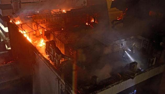 The Kamala Mills fire on December 29, 2017, claimed 14 lives.(HT File Photo)
