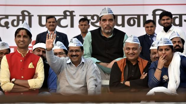 With a committed group of 400 donors who contribute regularly, AAP receives donations through online and cheque daily.(Sonu Mehta/HT PHOTO)