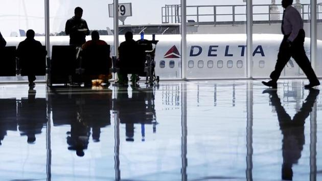 A woman who says she was groped during an international flight, sued Delta Air Lines over what she described as its anemic response to her case.(AP File Photo)