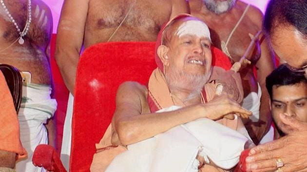 Shankaracharya of the Kanchi Kamkoti Peeth Jayendra Saraswati(PTI File Photo)