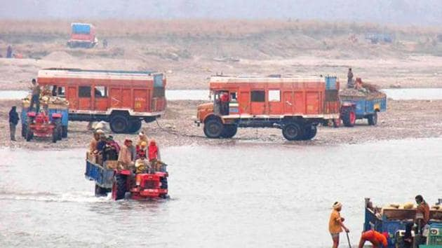 HT FILE PHOTO: A view of quarrying in Haridwar/HT Photo(HT File)