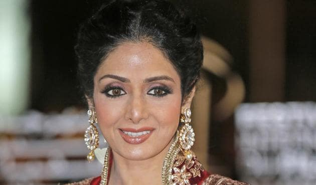 Sridevi died late Saturday in a Dubai hotel and her funeral is being held in Mumbai on Wednesday.(AP)