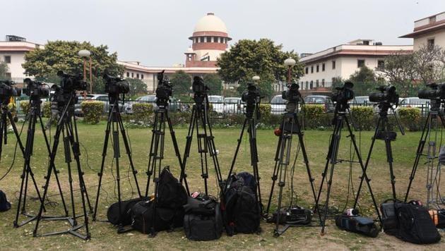 A view of the Supreme Court in New Delhi.(Sonu Mehta/HT PHOTO)