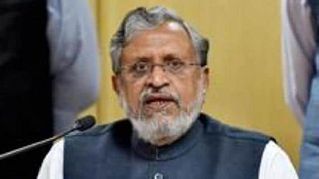 Bihar deputy chief minister Sushil Modi said the government had allocated Rs 17,000 crore in the budget to improve the road infrastructure.(PTI File Photo)