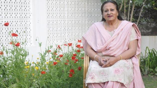 Kamaljeet Sandhu at her residence in Chandigarh on Wednesday, on the eve of International Women's Day.(Karun Sharma/HT Photo)