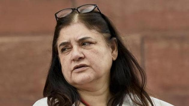 """Union Minister for Women and Child Development Maneka Gandhi lashed out at the Maharashtra government over the """"ghastly murder"""" of the tigress, T1, as she was known officially, calling it a """"straight case of crime"""".(PTI)"""