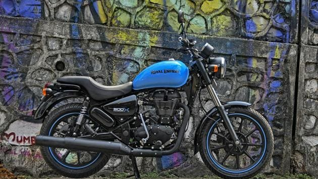 the Thunderbird 500X is a refreshed, urban-focused take on Royal Enfield's popular wannabe cruiser.