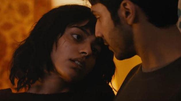 Banita Sandhu and Varun Dhawan in a still from October.