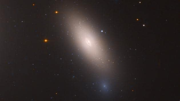 This is a Hubble Space Telescope image of galaxy NGC 1277. The galaxy is composed exclusively of aging stars that were born 10 billion years ago. But unlike other galaxies in the local universe, it has not undergone any further star formation, says the NASA website.(NASA, ESA, and M. Beasley (Instituto de Astrofísica de Canarias))