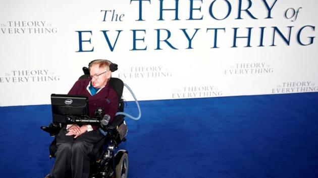"""Stephen Hawking arrives at the UK premiere of the film """"The Theory of Everything"""" which is based around his life, at a cinema in central London, Britain, December 9, 2014. Stephen has died at age 76.(Reuters File Photo)"""