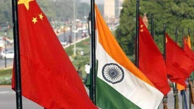 The national flags of India and China at Rajpath. The two countries have had a turbulent time over the past few years, with last August's Doklam issue dealing a huge blow to ties.(Arvind Yadav/HT File Photo)