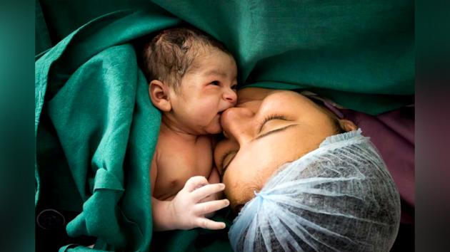 The biggest challenge, the photographers say, is making the would-be mother feel comfortable.(Urshita Saini)