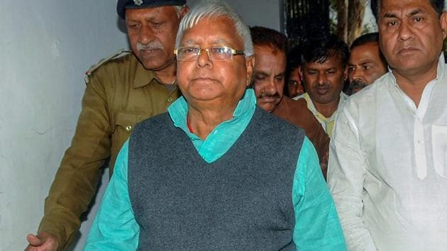 Former Bihar Chief Minister Lalu Prasad has been serving a jail term in Ranchi since December 23, 2017 following his conviction in a fodder scam case.(PTI File Photo)